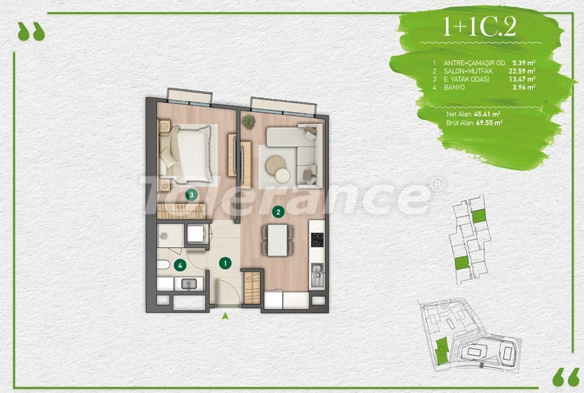 Apartments in Istanbul in a complex with a developed infrastructure - 14345 | Tolerance Homes