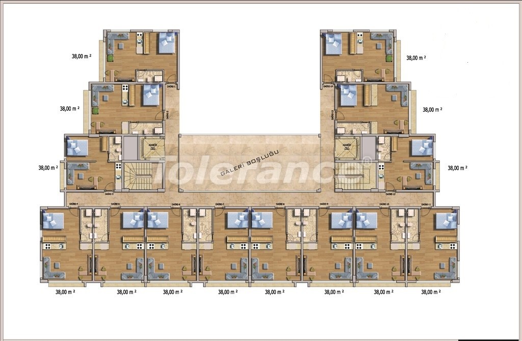 Affordable apartments in Alanya in the modern complex with a swimming pool - 14583   Tolerance Homes