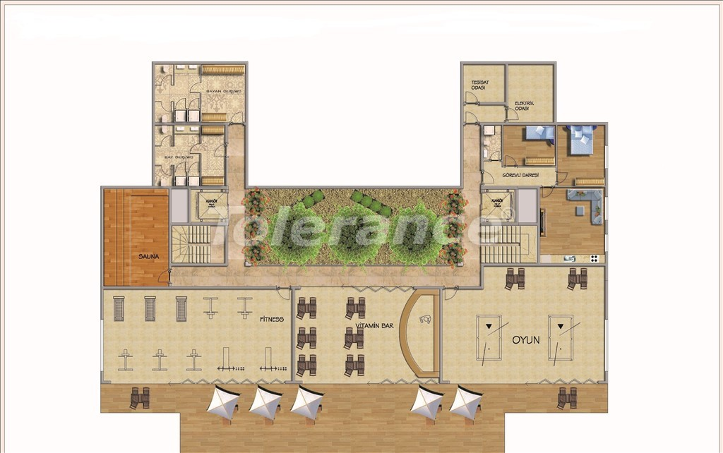 Affordable apartments in Alanya in the modern complex with a swimming pool - 14584   Tolerance Homes