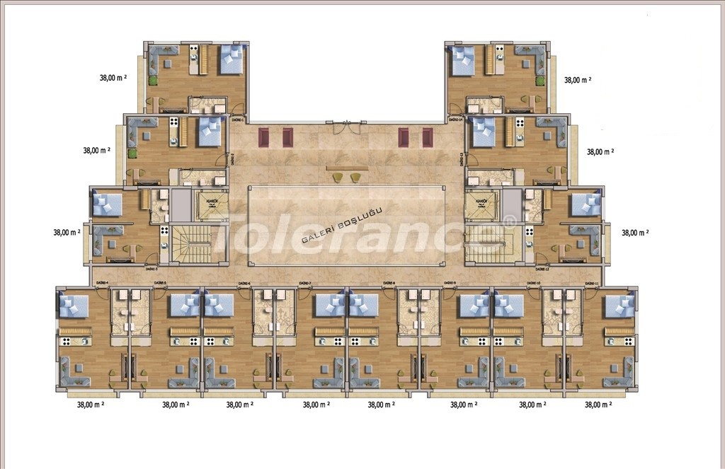 Affordable apartments in Alanya in the modern complex with a swimming pool - 14582   Tolerance Homes