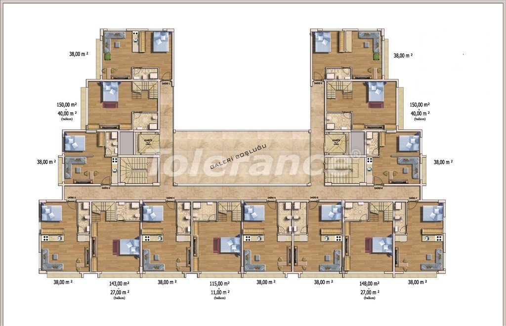Affordable apartments in Alanya in the modern complex with a swimming pool - 14580   Tolerance Homes