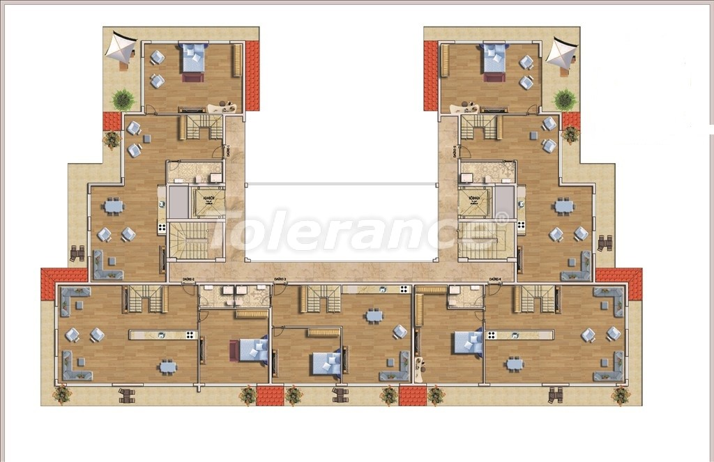 Affordable apartments in Alanya in the modern complex with a swimming pool - 14581   Tolerance Homes