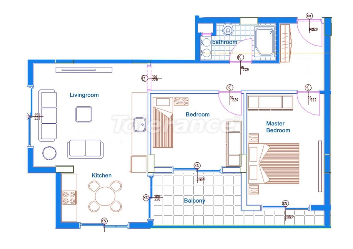Comfortable apartments in Mahmutlar, Alanya near the sea - 14713 | Tolerance Homes