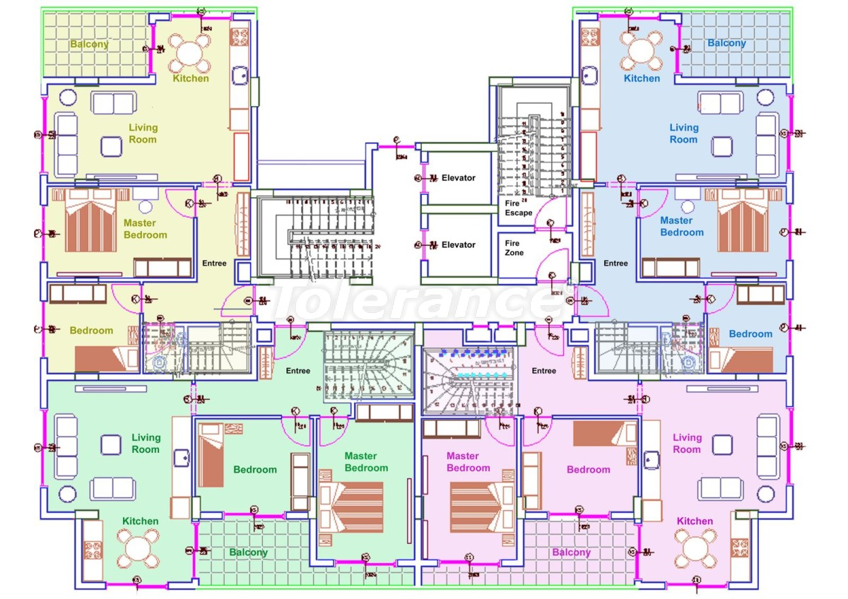 Comfortable apartments in Mahmutlar, Alanya near the sea - 14711 | Tolerance Homes