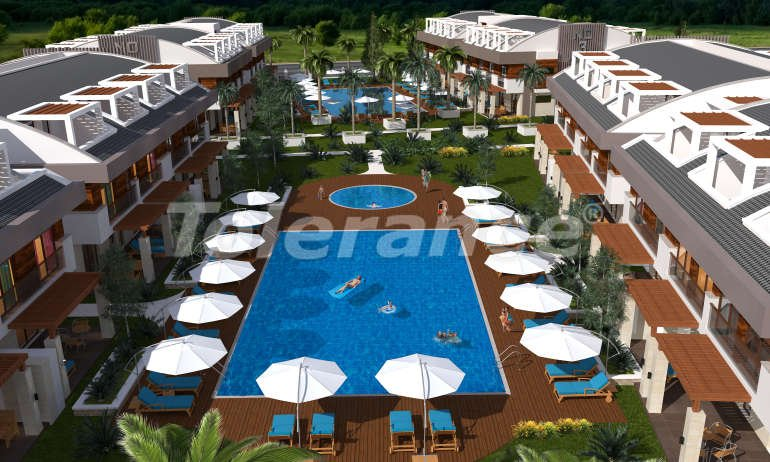 """Apartments in a luxurious complex in Kundu, Antalya near the sea, with a """"smart house"""" system and a swimming pool - 14878 