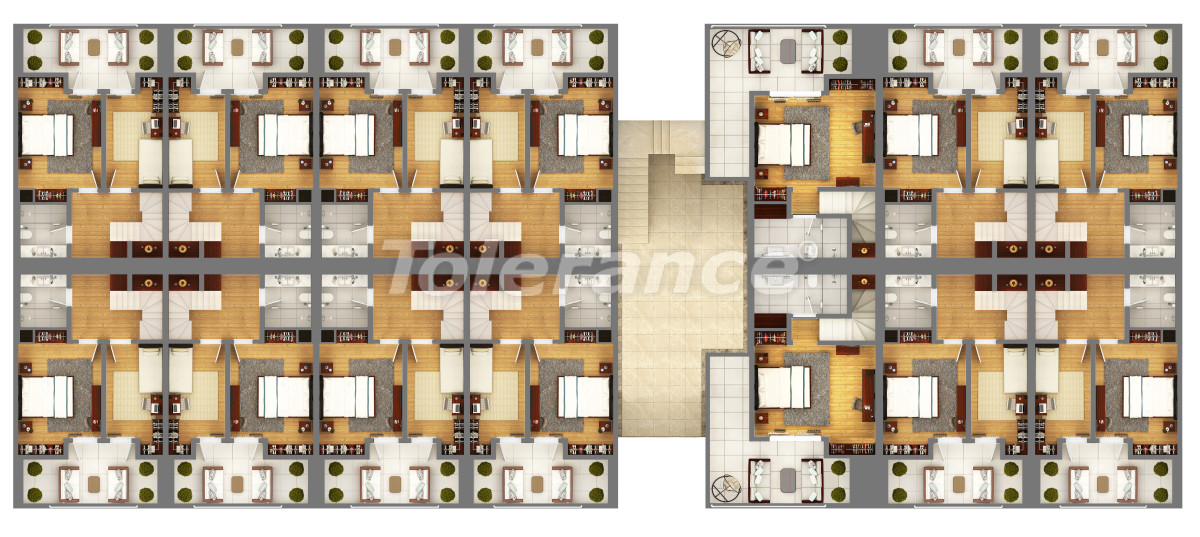 """Apartments in a luxurious complex in Kundu, Antalya near the sea, with a """"smart house"""" system and a swimming pool - 14893 