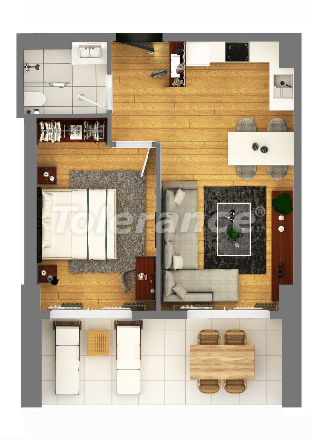 """Apartments in a luxurious complex in Kundu, Antalya near the sea, with a """"smart house"""" system and a swimming pool - 14896 