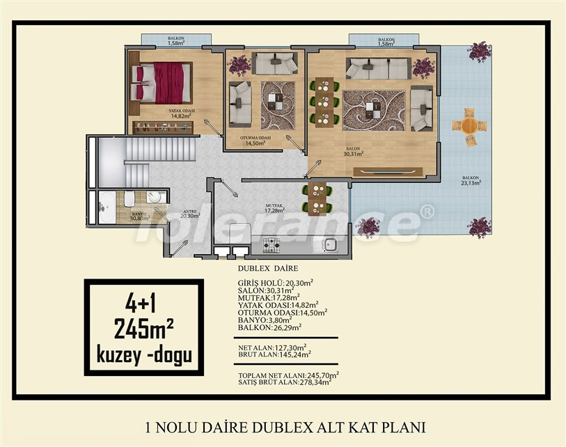 Affordable apartments in Mahmutlar, Alanya just 450 meters from the beach - 14916   Tolerance Homes