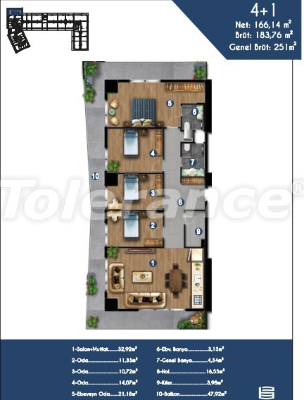 Modern apartments in Izmir, profitable for investment,  in a hotel-type complex - 15154 | Tolerance Homes