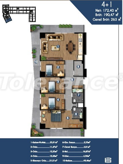 Modern apartments in Izmir, profitable for investment,  in a hotel-type complex - 15153 | Tolerance Homes