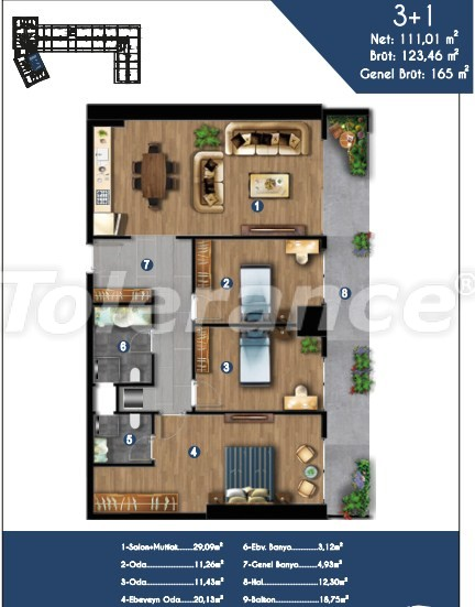 Modern apartments in Izmir, profitable for investment,  in a hotel-type complex - 15152 | Tolerance Homes
