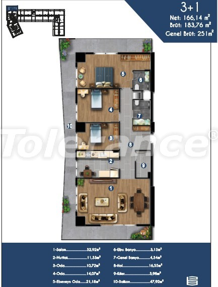 Modern apartments in Izmir, profitable for investment,  in a hotel-type complex - 15149 | Tolerance Homes