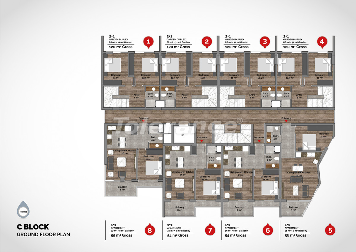 Luxury residential complex in the center of Alanya  - 15215 | Tolerance Homes