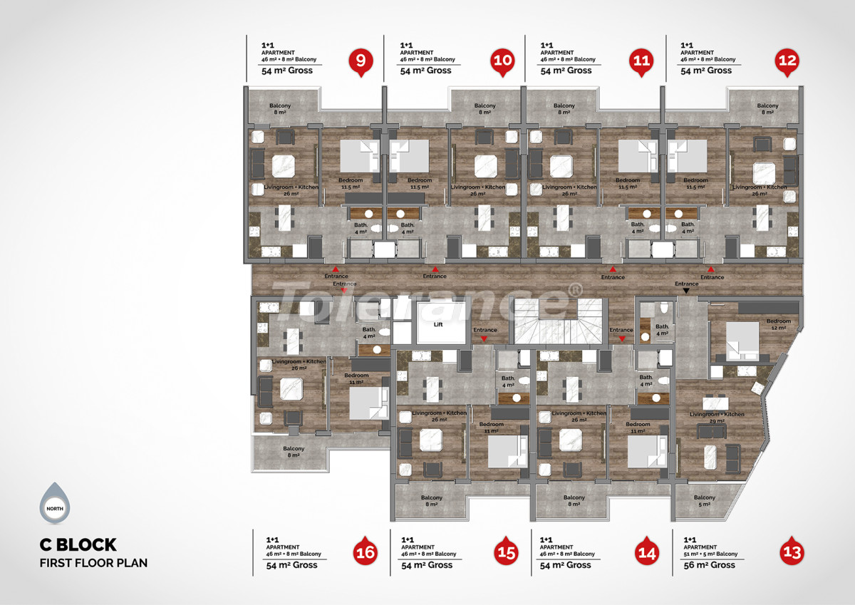 Luxury residential complex in the center of Alanya  - 15218 | Tolerance Homes