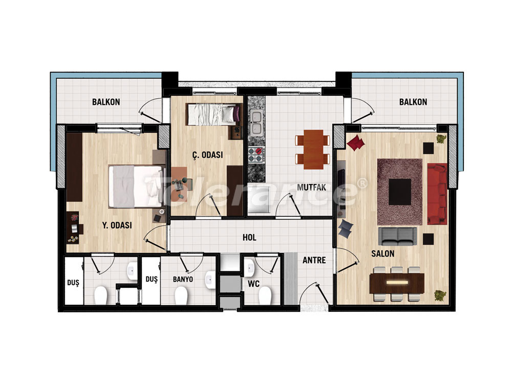 Apartments in Dosemealta, Antalya for investment from the developer - 15385 | Tolerance Homes
