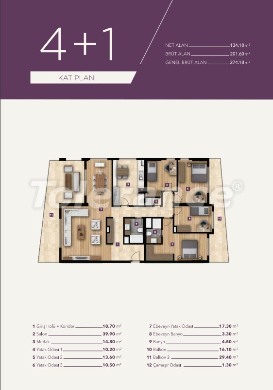 Luxury apartments in the center of Izmir from the best construction company - 15532 | Tolerance Homes