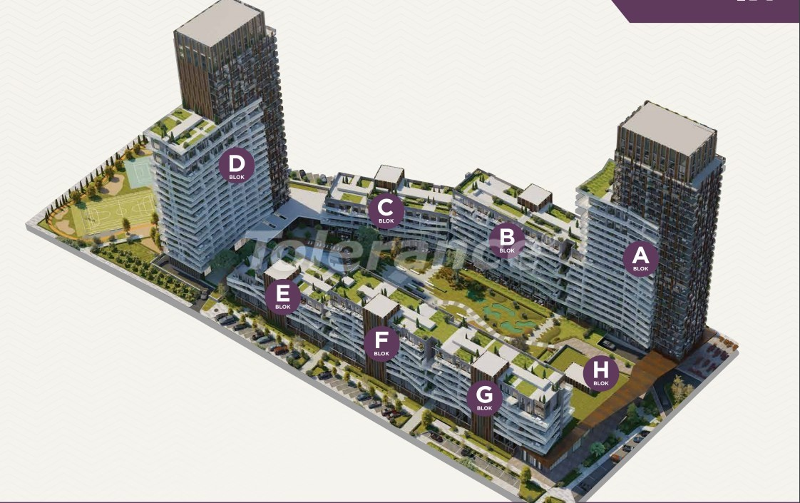 Luxury apartments in the center of Izmir from the best construction company - 15534 | Tolerance Homes