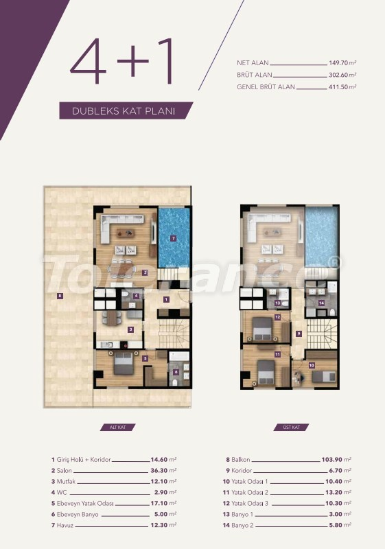 Luxury apartments in the center of Izmir from the best construction company - 15533 | Tolerance Homes