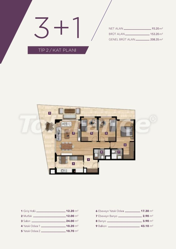 Luxury apartments in the center of Izmir from the best construction company - 15531 | Tolerance Homes