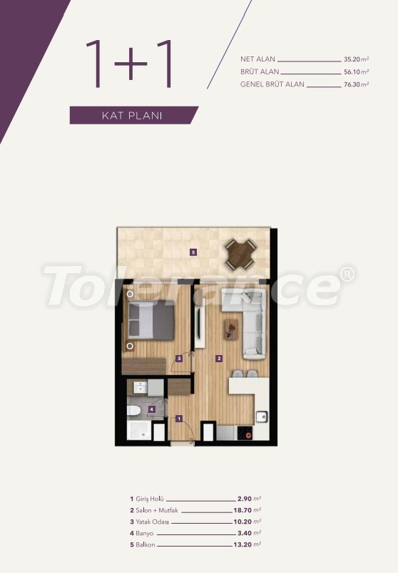 Luxury apartments in the center of Izmir from the best construction company - 15527 | Tolerance Homes