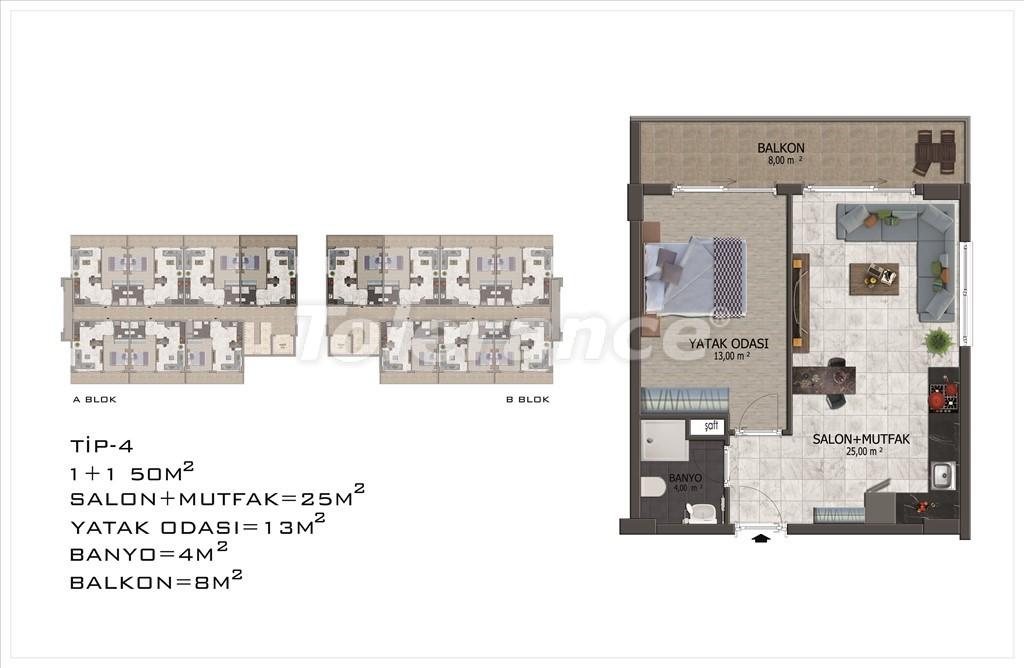 Apartments in Mahmutlar, Alanya with pool and installments - 15849 | Tolerance Homes
