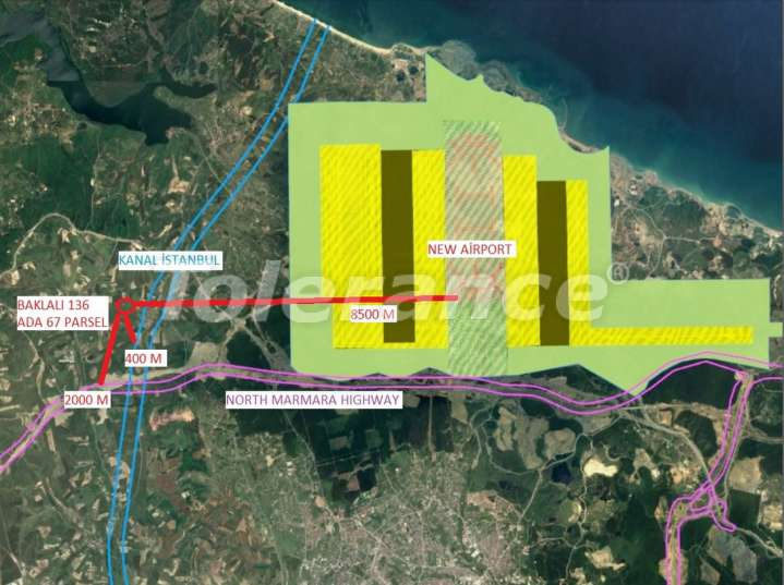 """The plot of land profitable for investments near the new airport and """"Istanbul Channel"""" - 15759 