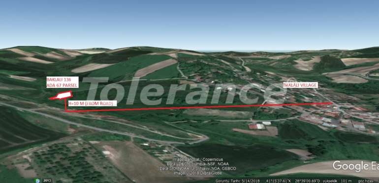 """The plot of land profitable for investments near the new airport and """"Istanbul Channel"""" - 15760 