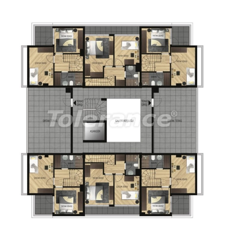 Luxury apartments in Lara, Antalya for investment with gas heating - 15647   Tolerance Homes
