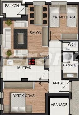 Apartments in the center of Antalya with gas heating from the developer - 15672 | Tolerance Homes