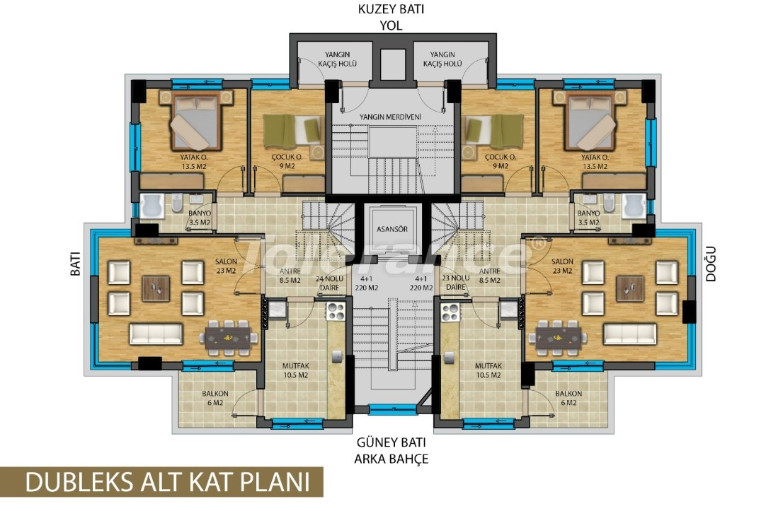 Apartments in the center of Antalya from developer - 20821 | Tolerance Homes