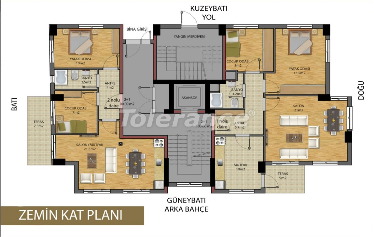 Apartments in the center of Antalya from developer - 15686 | Tolerance Homes