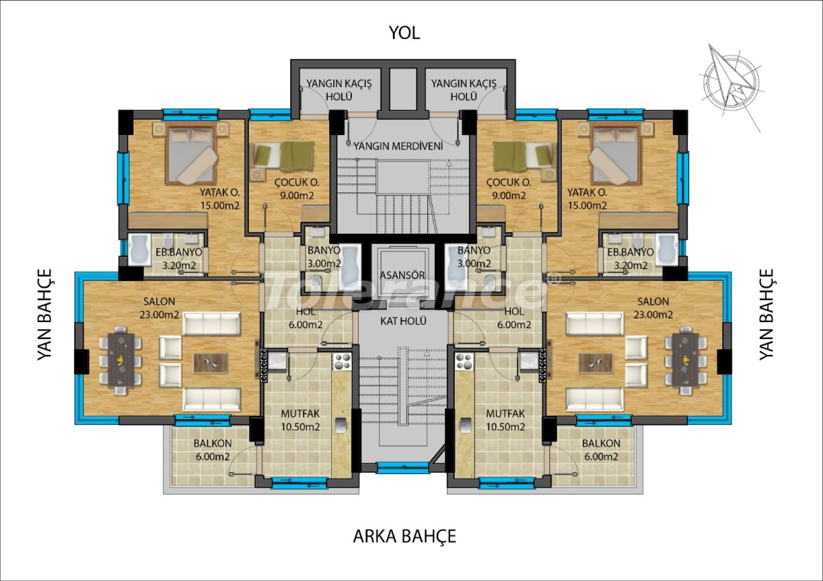 Apartments in the center of Antalya from developer - 15687 | Tolerance Homes