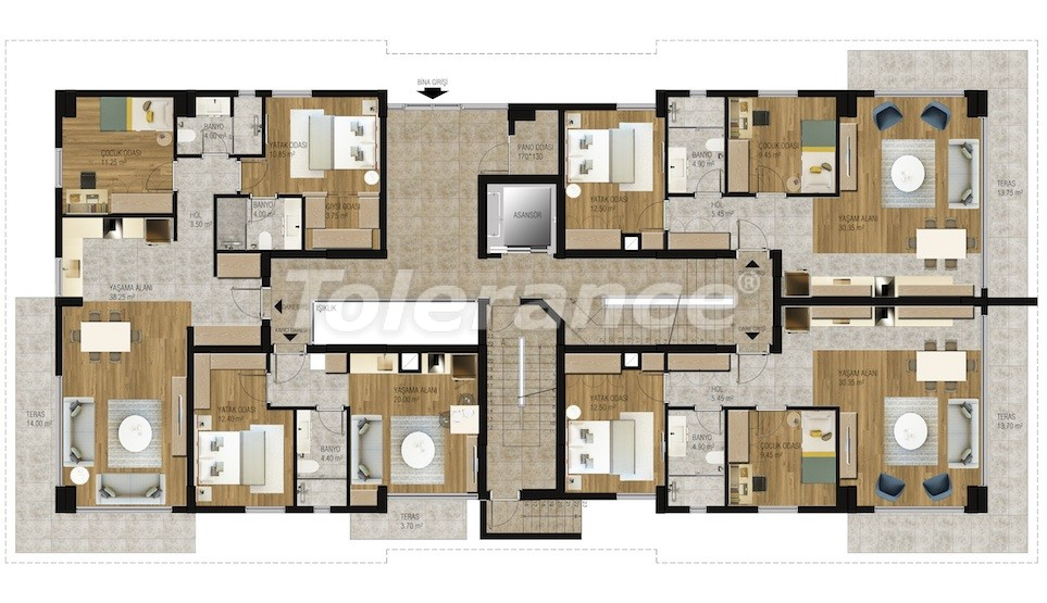 Modern  apartments in Uncali, Konyaalti with a swimming pool from the reliable developer with installments - 16207 | Tolerance Homes