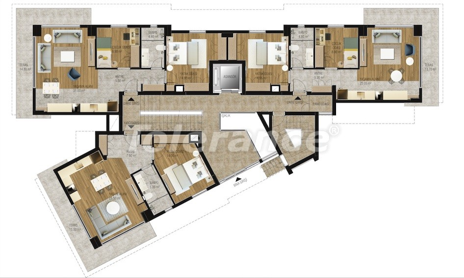 Modern  apartments in Uncali, Konyaalti with a swimming pool from the reliable developer with installments - 16211 | Tolerance Homes