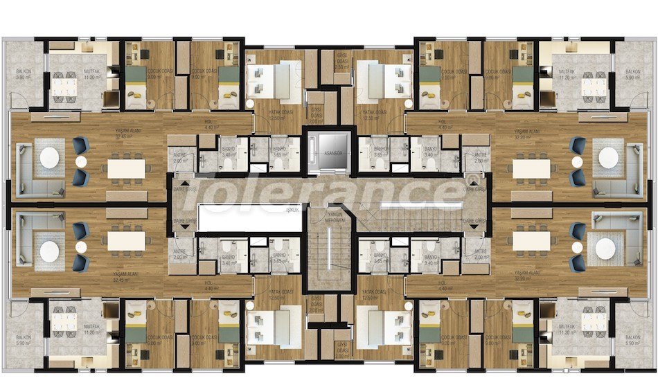 Modern  apartments in Uncali, Konyaalti with a swimming pool from the reliable developer with installments - 16204 | Tolerance Homes