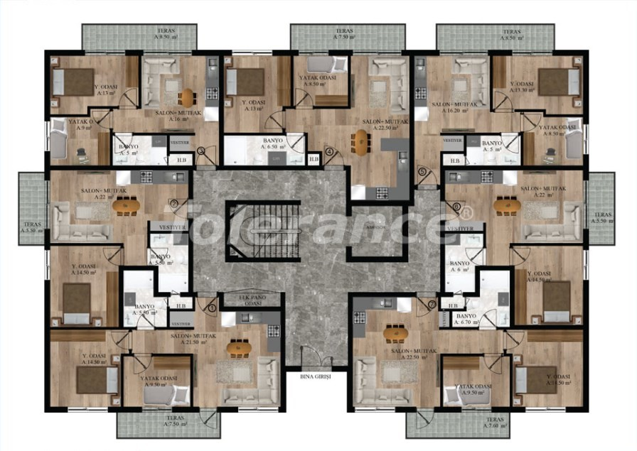 Apartments in Sarysu, Konyaalti from a reliable developer near the sea - 16717 | Tolerance Homes