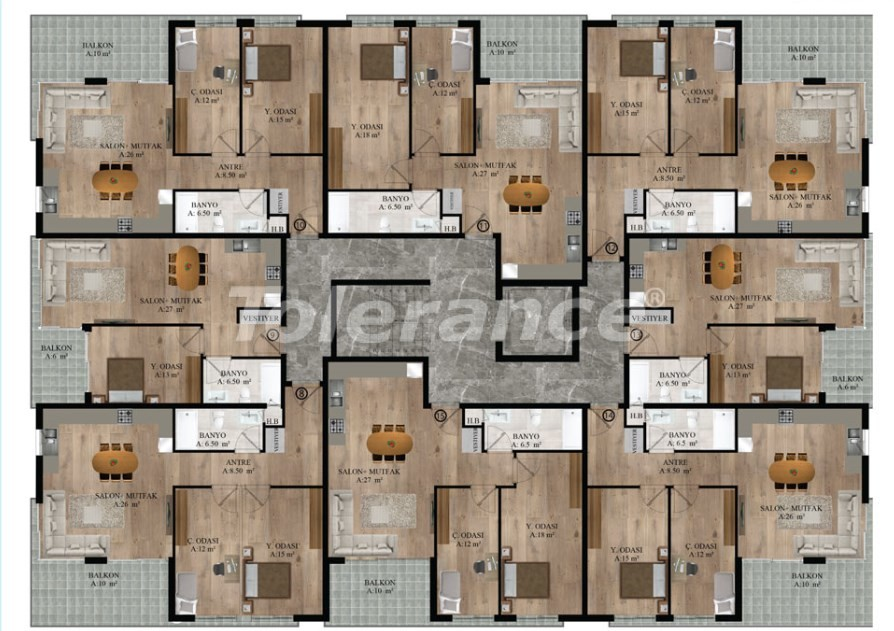 Apartments in Sarysu, Konyaalti from a reliable developer near the sea - 16718 | Tolerance Homes