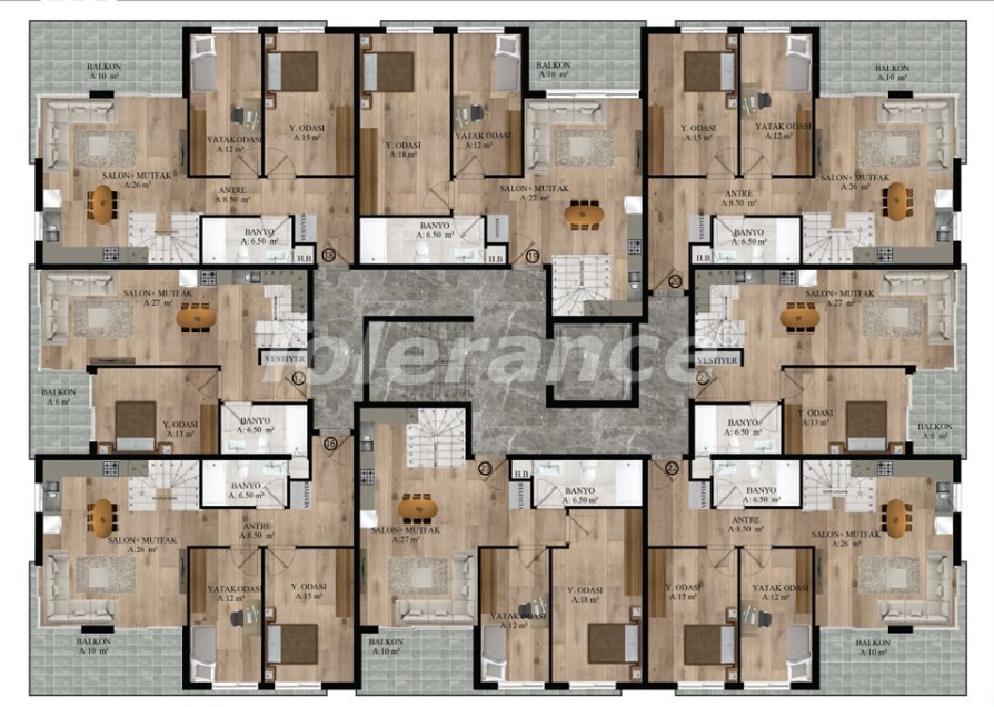 Apartments in Sarysu, Konyaalti from a reliable developer near the sea - 16719 | Tolerance Homes