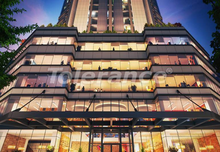 Spacious offices in Sisli, Istanbul in a modern complex with a rental guarantee for 3 years - 24709   Tolerance Homes