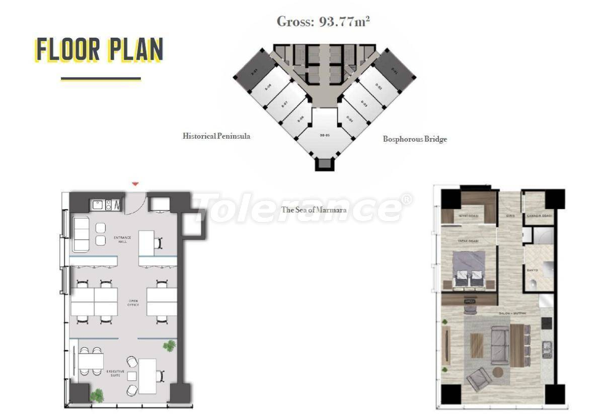 Spacious offices in Sisli, Istanbul in a modern complex with a rental guarantee for 3 years - 24705   Tolerance Homes