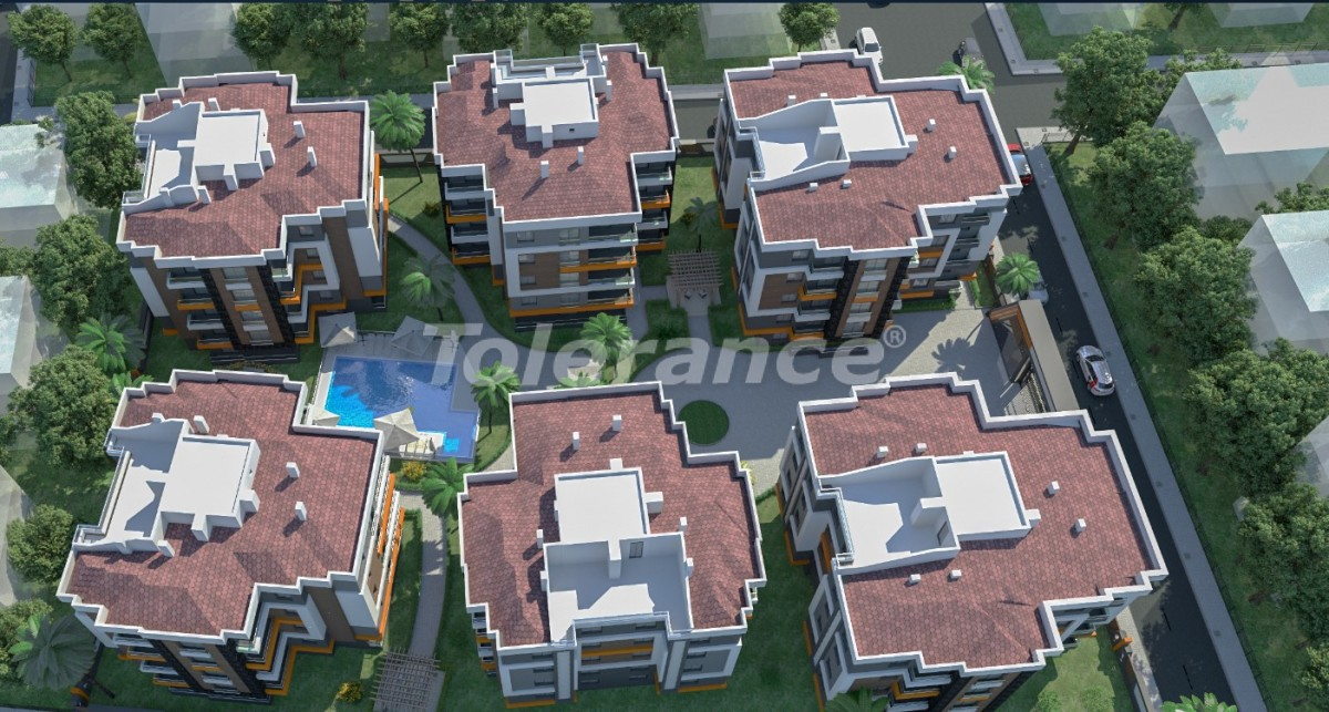 Inexpensive resale apartment in the center of Antalya in a complex with a swimming pool - 16900 | Tolerance Homes