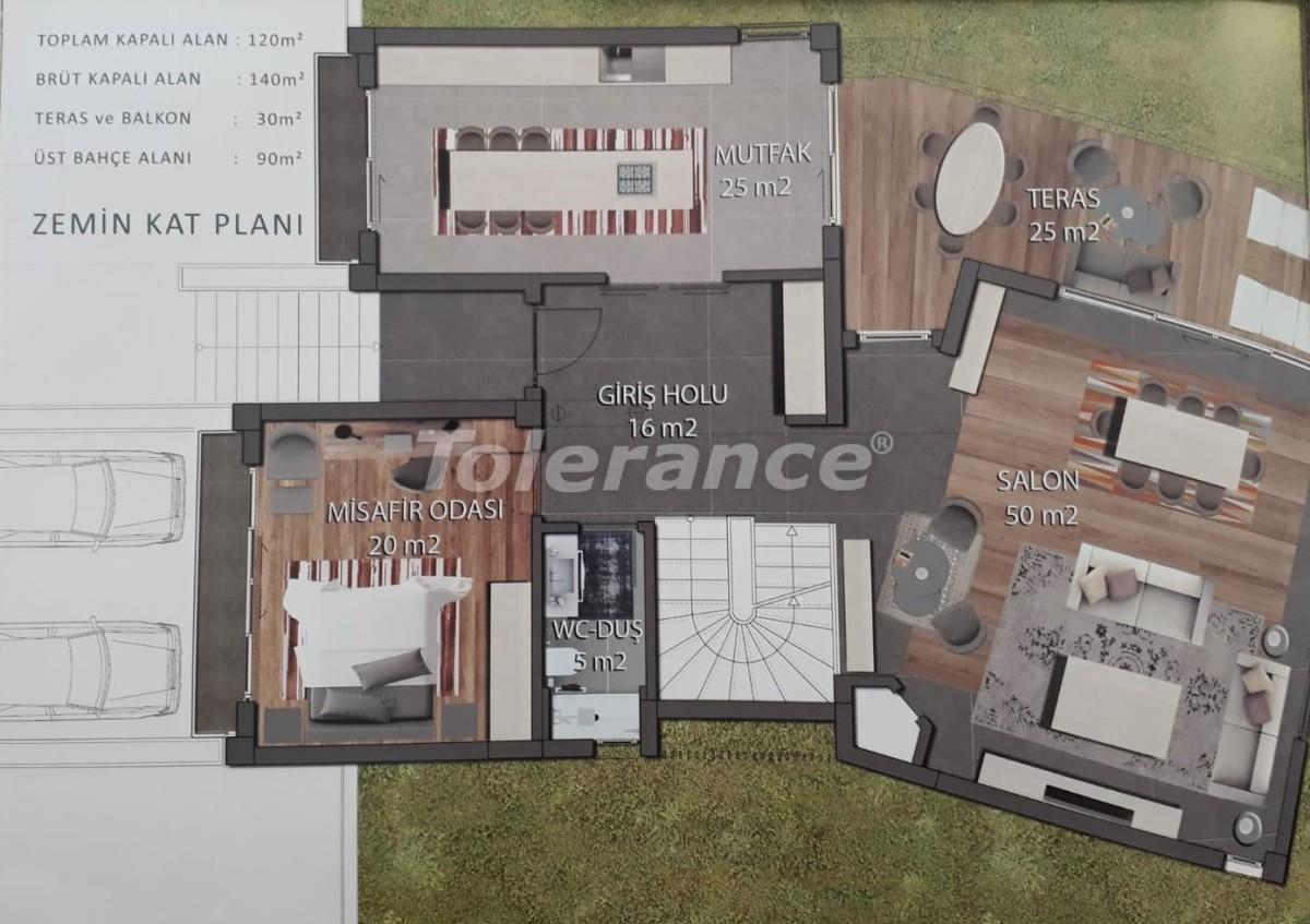 Modern villas in Doshemealtı, Antalya with the possibility of obtaining citizenship - 17030 | Tolerance Homes