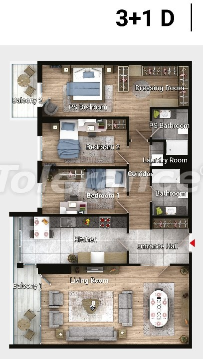 Apartments in Avcilar, Istanbul in the modern complex from the developer with installments  up to 3 years - 17190 | Tolerance Homes