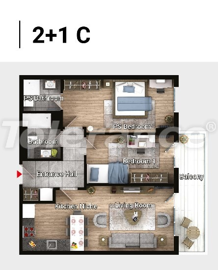 New ready-to-move apartments in Avcılar, Istanbul in a modern complex with installments  up to 6 months - 17182 | Tolerance Homes