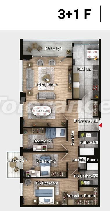 Apartments in Avcilar, Istanbul in the modern complex from the developer with installments  up to 3 years - 17192 | Tolerance Homes