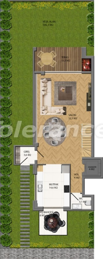 Modern villas in Konyaalti, Antalya from the developer with the possibility of installment and obtaining Turkish citizenship - 17234 | Tolerance Homes