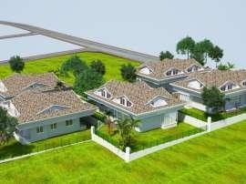 Modern villas in Kuzdere, Kemer with a big garden