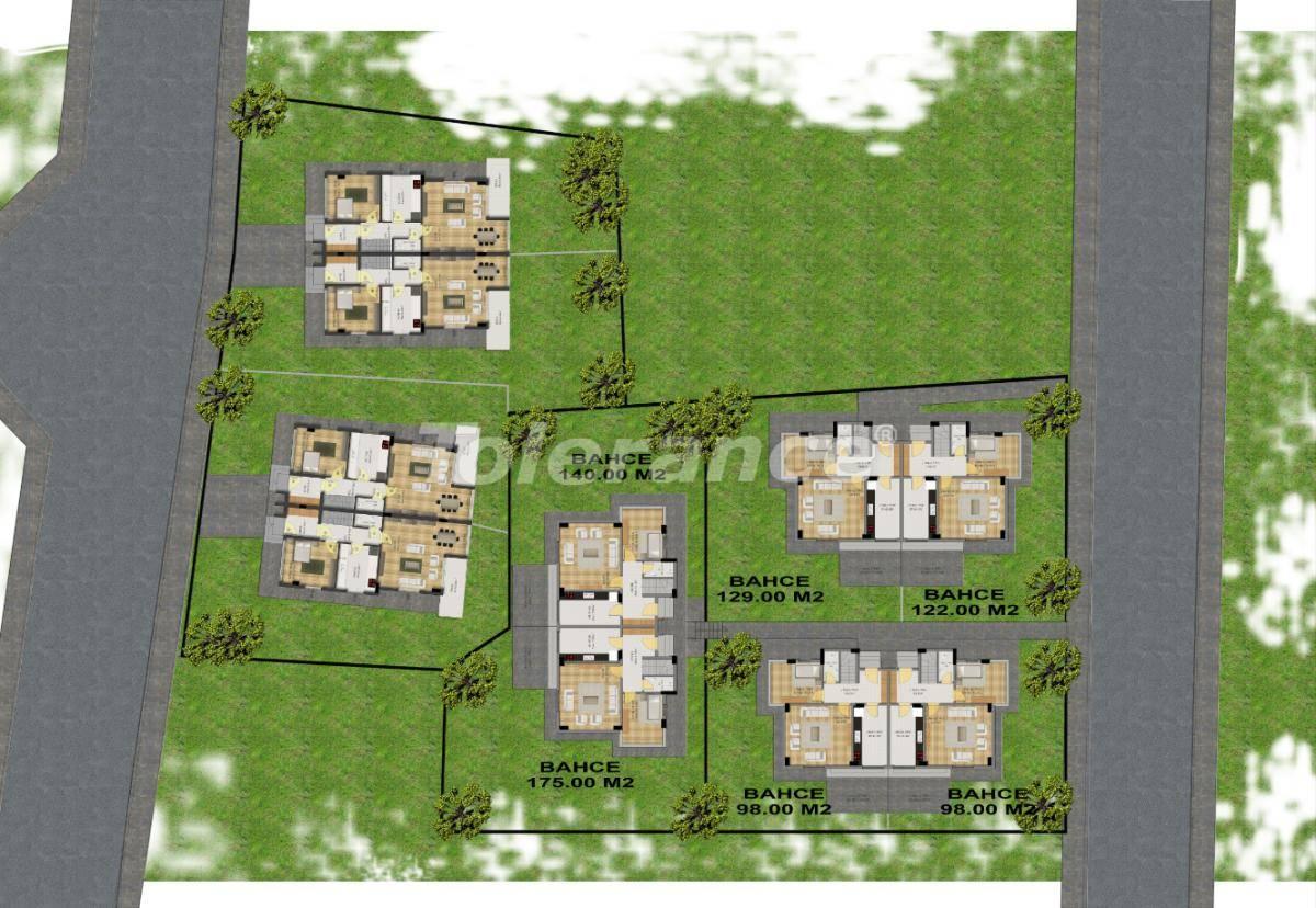Modern villas in Kuzdere, Kemer with a big garden - 17330   Tolerance Homes