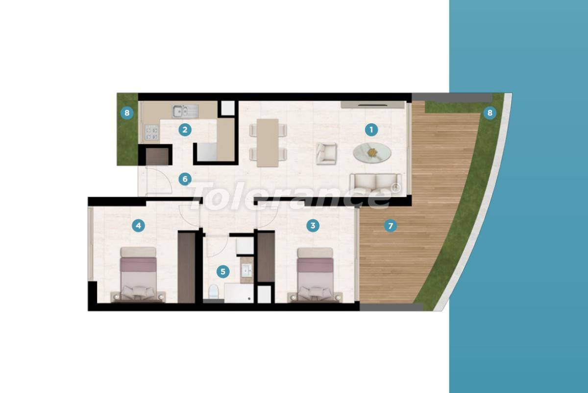 Modern apartments in Cesme, Izmir by the sea from the reliable developer with installments - 17465 | Tolerance Homes