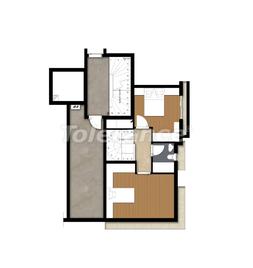 Spacious apartment in Lara, Antalya near the sea - 17684 | Tolerance Homes